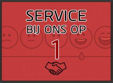 Service bij ons op 1